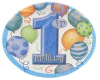 First Birthday Balloon Blue