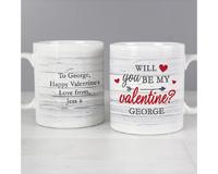 Personalised Valentine's Day Mugs