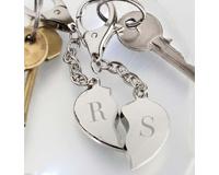 Personalised Valentine's Keyrings