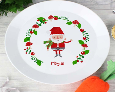 Personalised Christmas Themed Plates & Cutlery