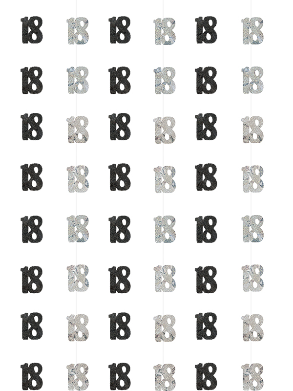Birthday Glitz Black Silver 18th Prism Hanging Decoration View Detailed Images 3