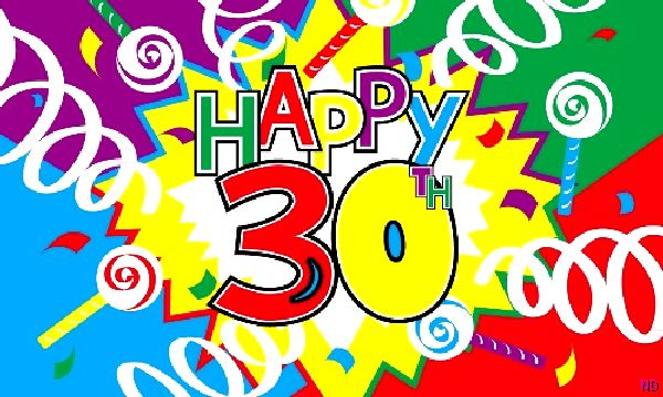 happy 30th birthday flag party supplies from novelties direct rh novelties direct co uk 40th birthday clipart images 40th birthday clipart free