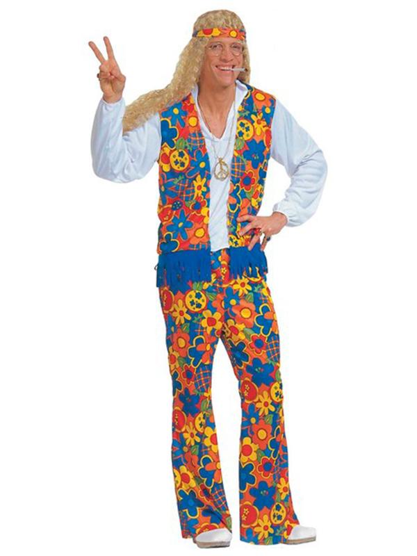Hippie Costume Mens (shirt Vest Pants H/band Necklace) - Novelties (Parties) Direct Ltd  sc 1 st  Novelties Direct & Hippie Costume Mens (shirt Vest Pants H/band Necklace) - Novelties ...