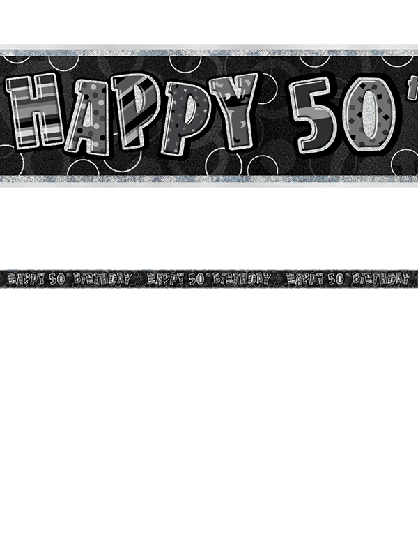 50th Birthday Prism Banner