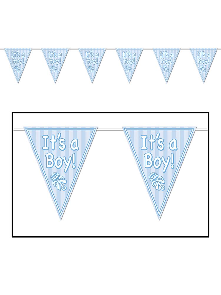 It/'s A Boy Pennant Banner