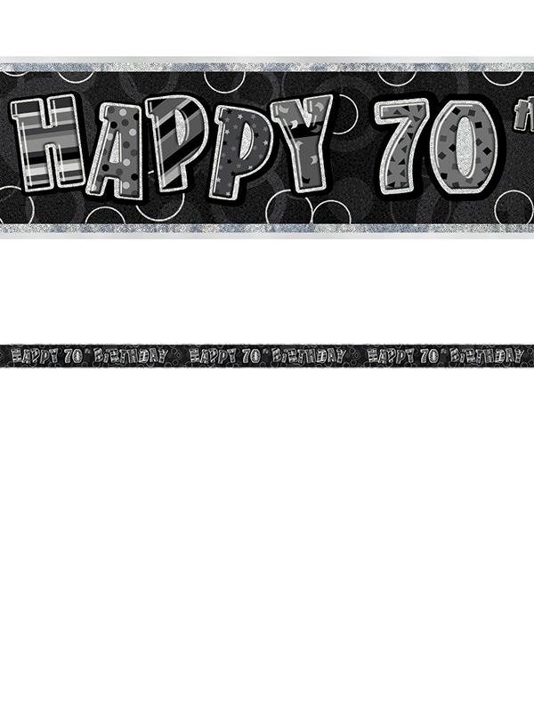 70th Birthday Prism Banner