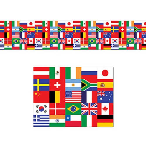 International Flag Poly Decorating Material 18 Quot X 25