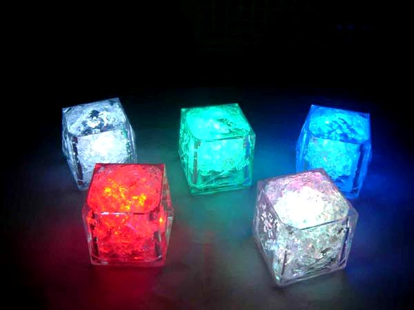 flashing multi coloured light up ice cubes party supplies from