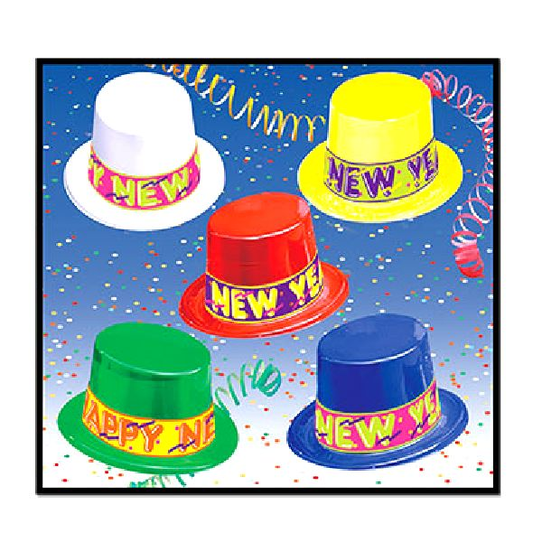 Colourama New Years Eve Party Top Hats (25) | Party ...