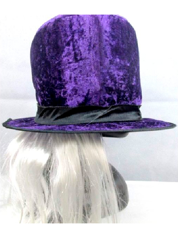 1915b9b9 Purple Top Hat with Attached Hair / Fancy Dress Hats - Novelties (Parties) Direct  Ltd