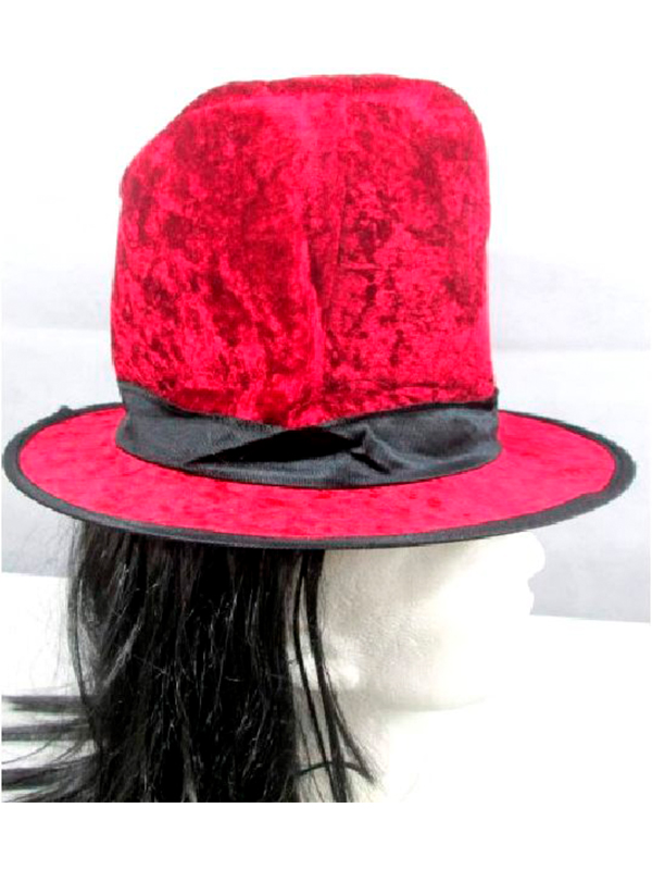 35c8329b Red Top Hat with Attached Hair / Fancy Dress Hats - Novelties (Parties) Direct  Ltd
