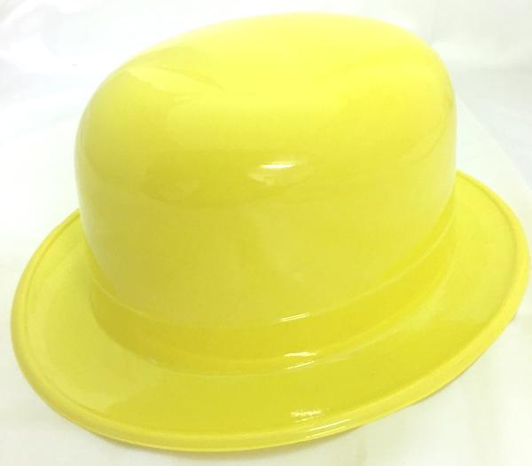 Bowler Plastic Hat Yellow - Novelties (Parties) Direct Ltd 65189478e1e