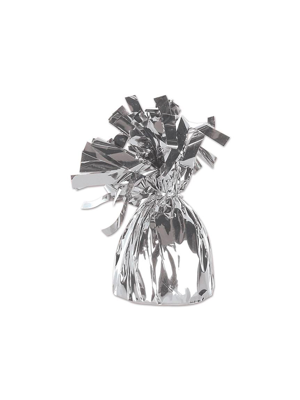 Balloon Weight Foil Wrapped Silver