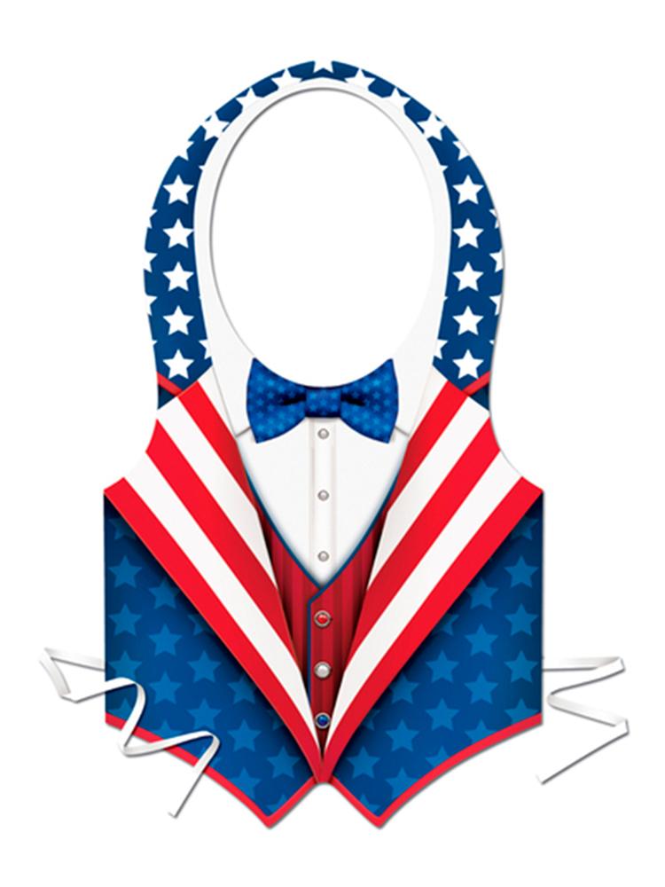 Plastic USA Patriotic Vest