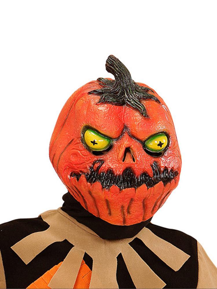 Horror Pumpkin Full Head Mask for Child