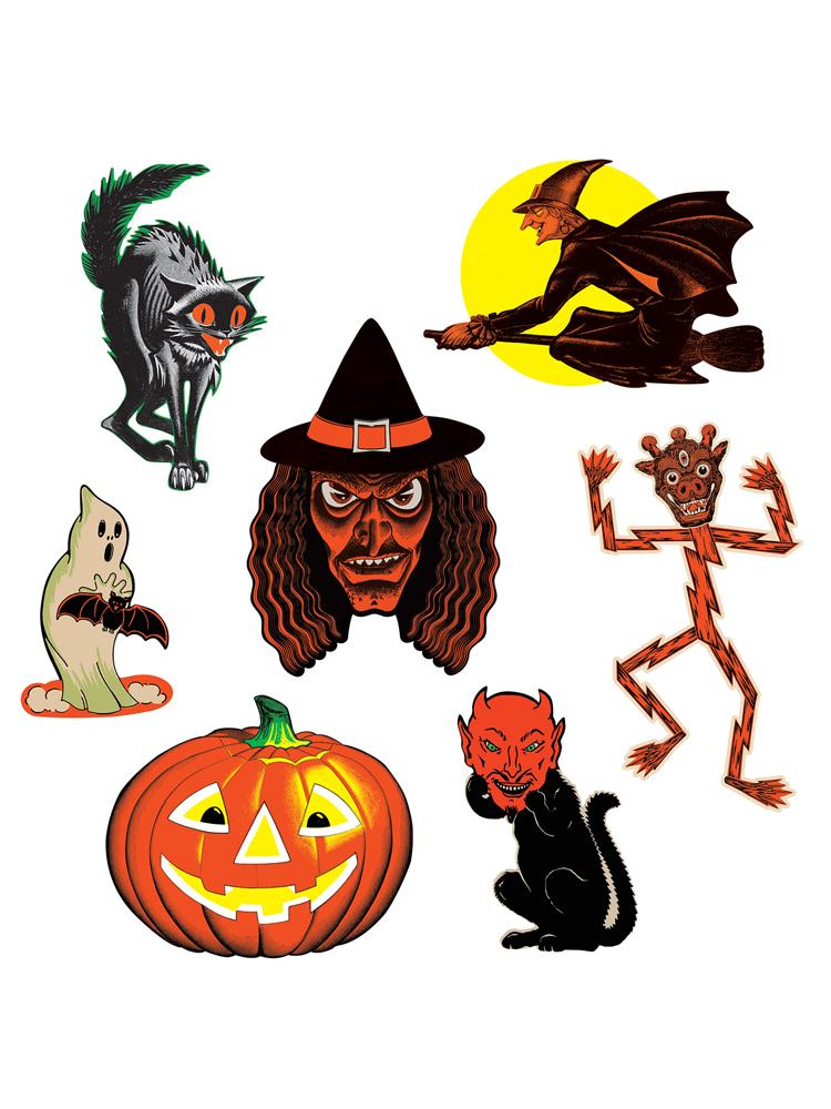 "Vintage Halloween Classic Cutouts 9½""-16"""