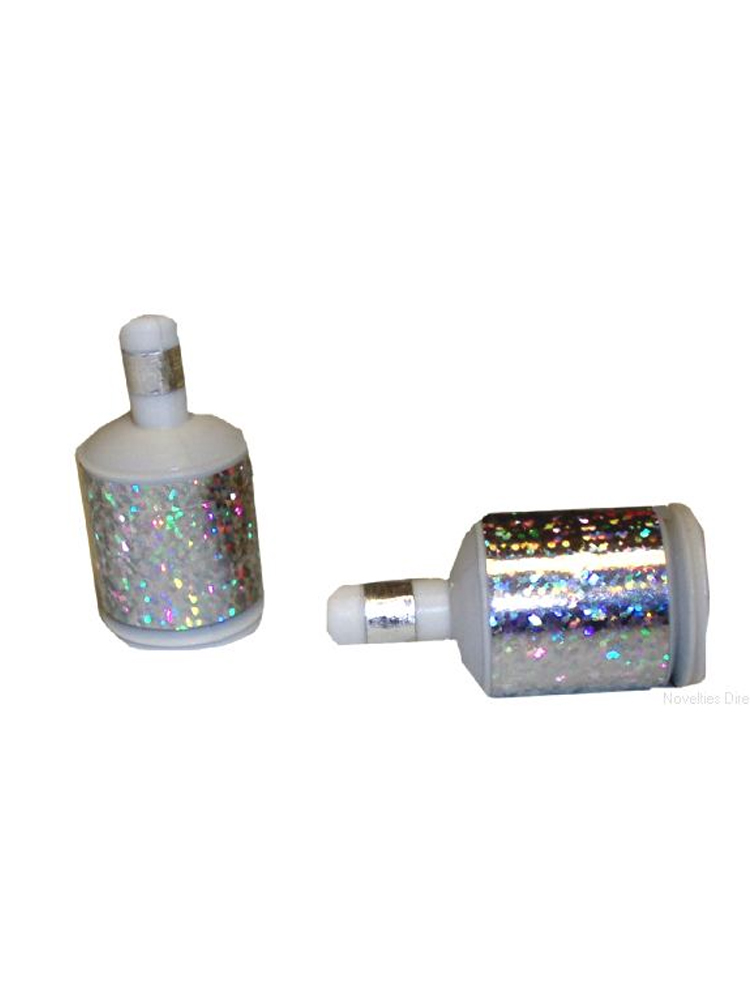 Holographic Silver Party Poppers - 20