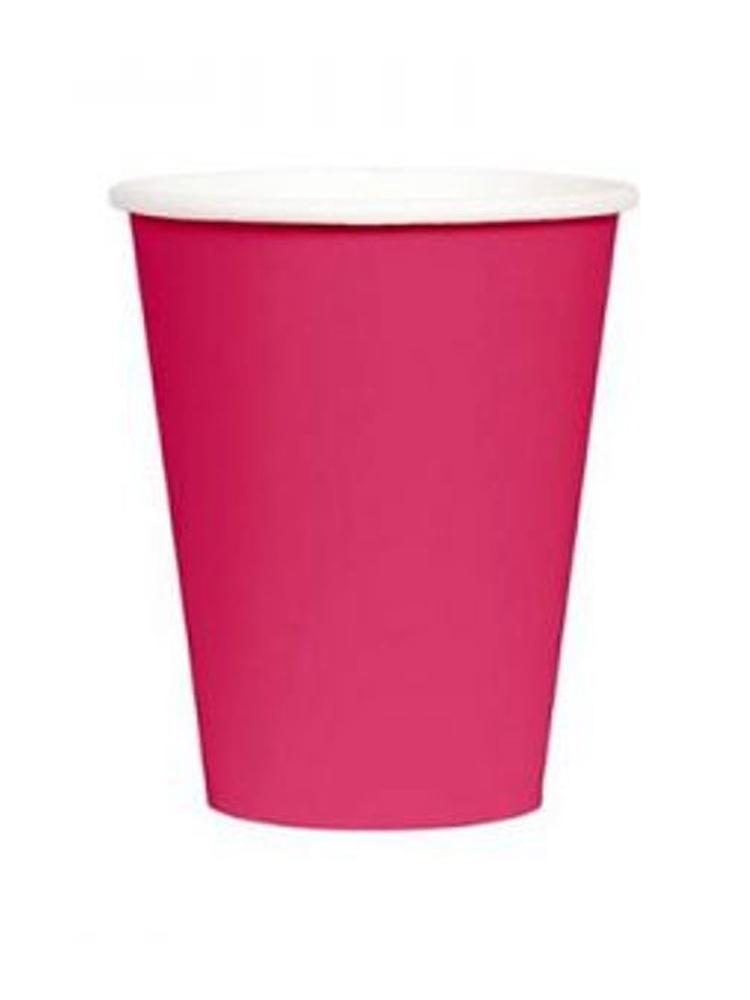 Hot Pink 9oz Paper Cup