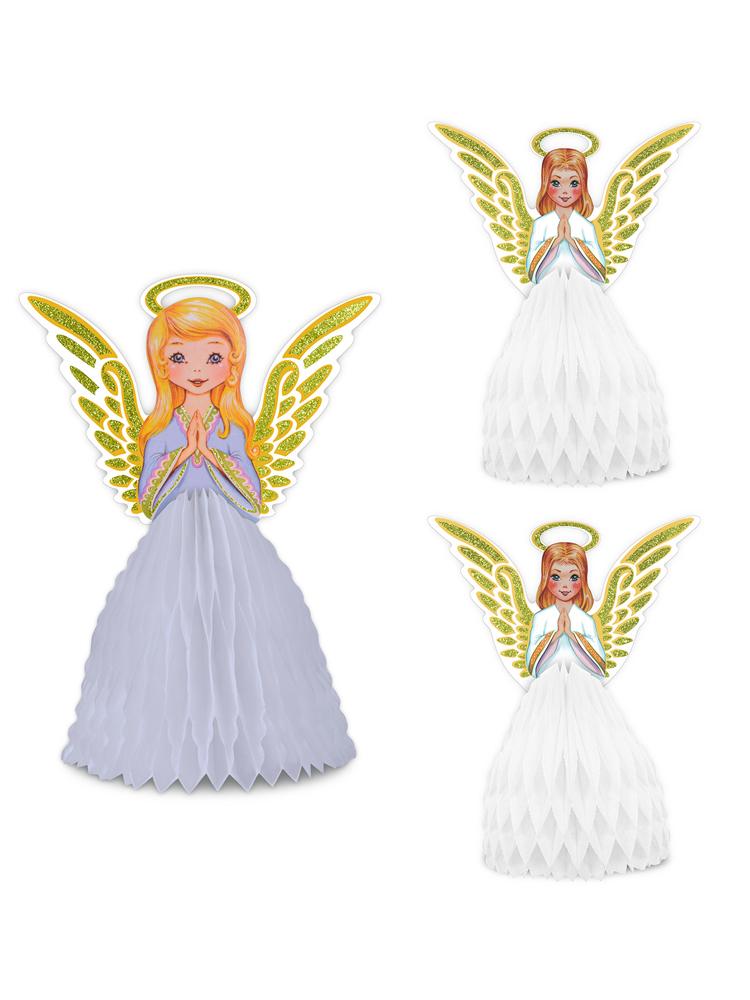 Vintage Christmas Angel Centrepiece Set