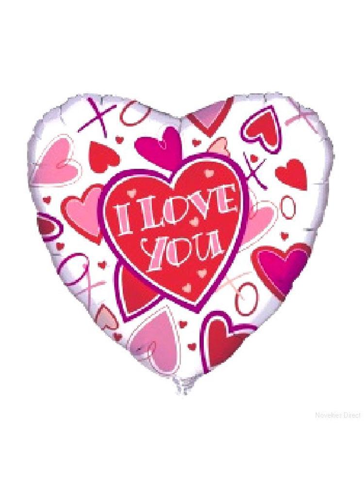 Foil Balloon 'I LOVE YOU'