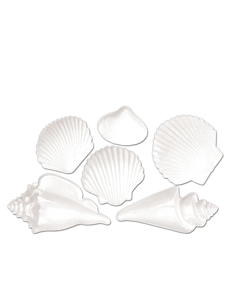White Plastic Seashell Decoration