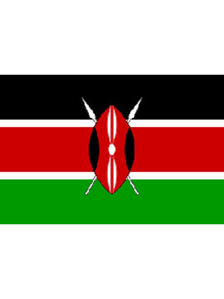 Kenya/Kenyan Flag 5ft x 3ft (100% Polyester) With Eyelets For Hanging