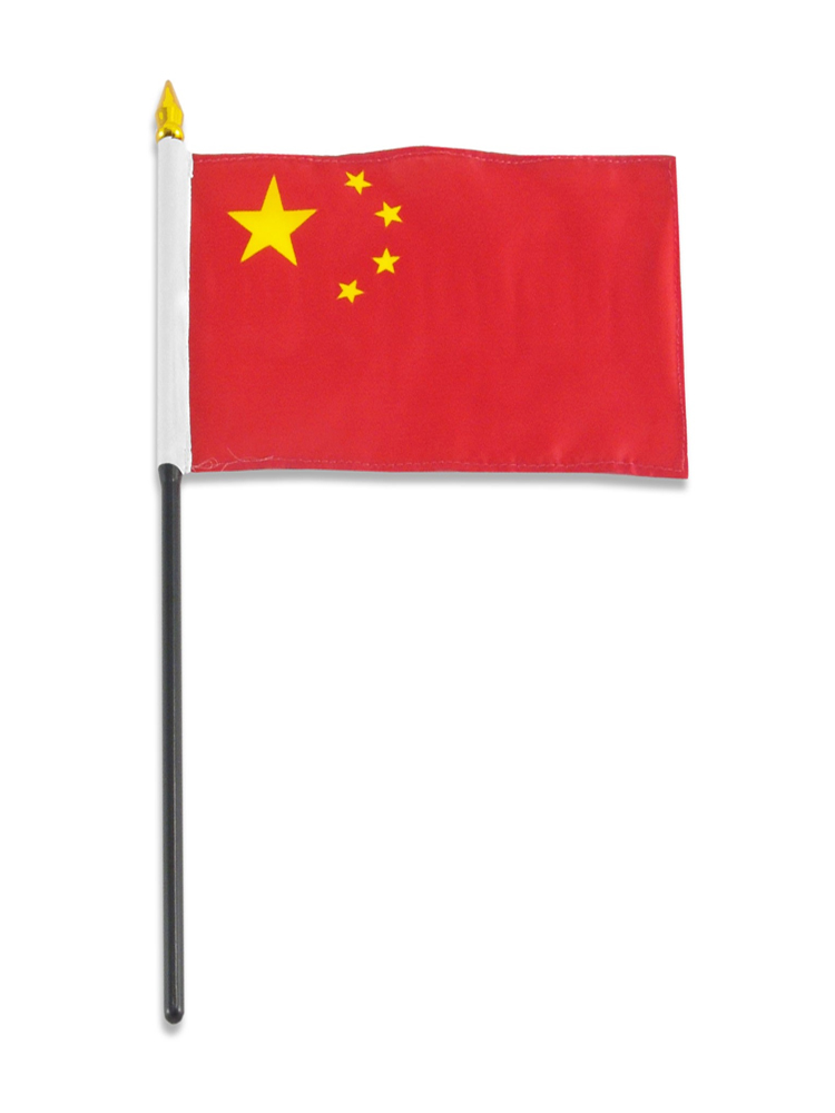 China Table Flag with Stick and Base
