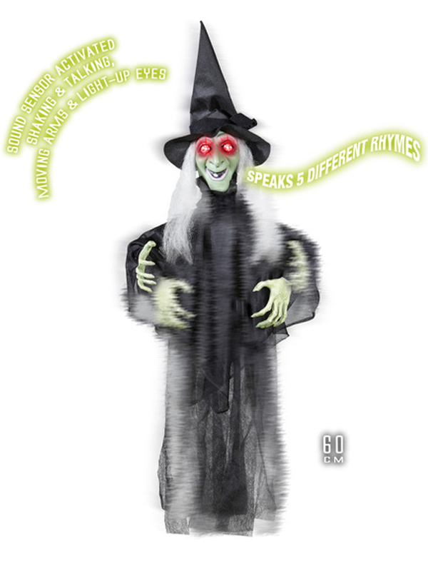 Animated Shaking Talking Witch 60cm
