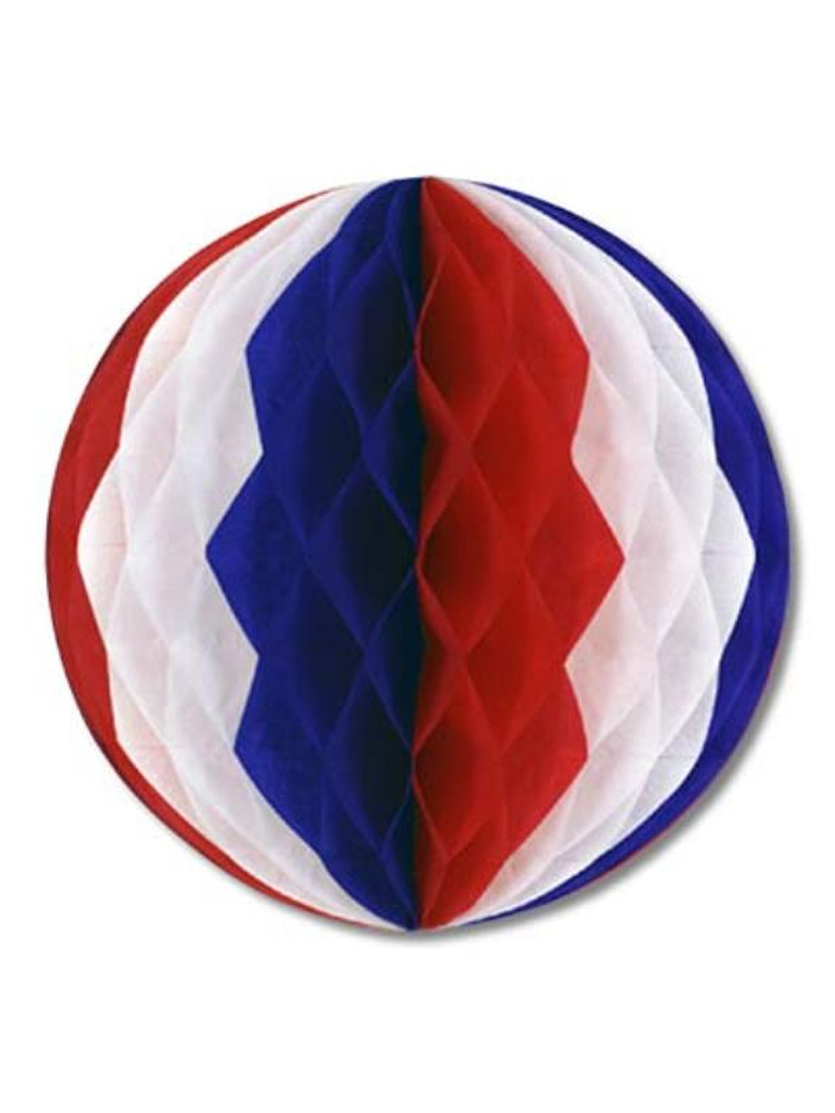 Tissue Ball Decoration - Red, White & Blue