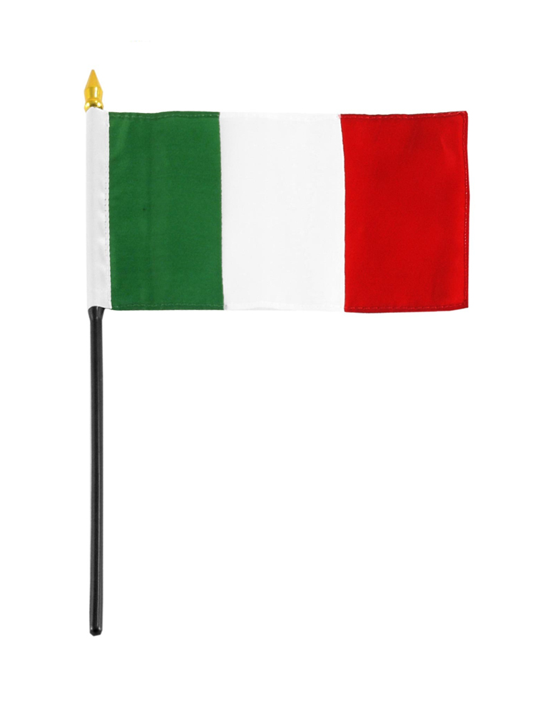 Italy Table Flag with Stick and Base