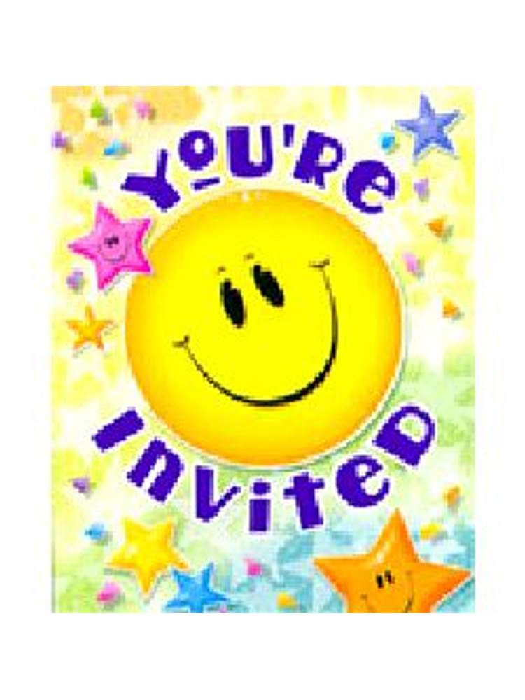 Smiley Stars Party Invitations.