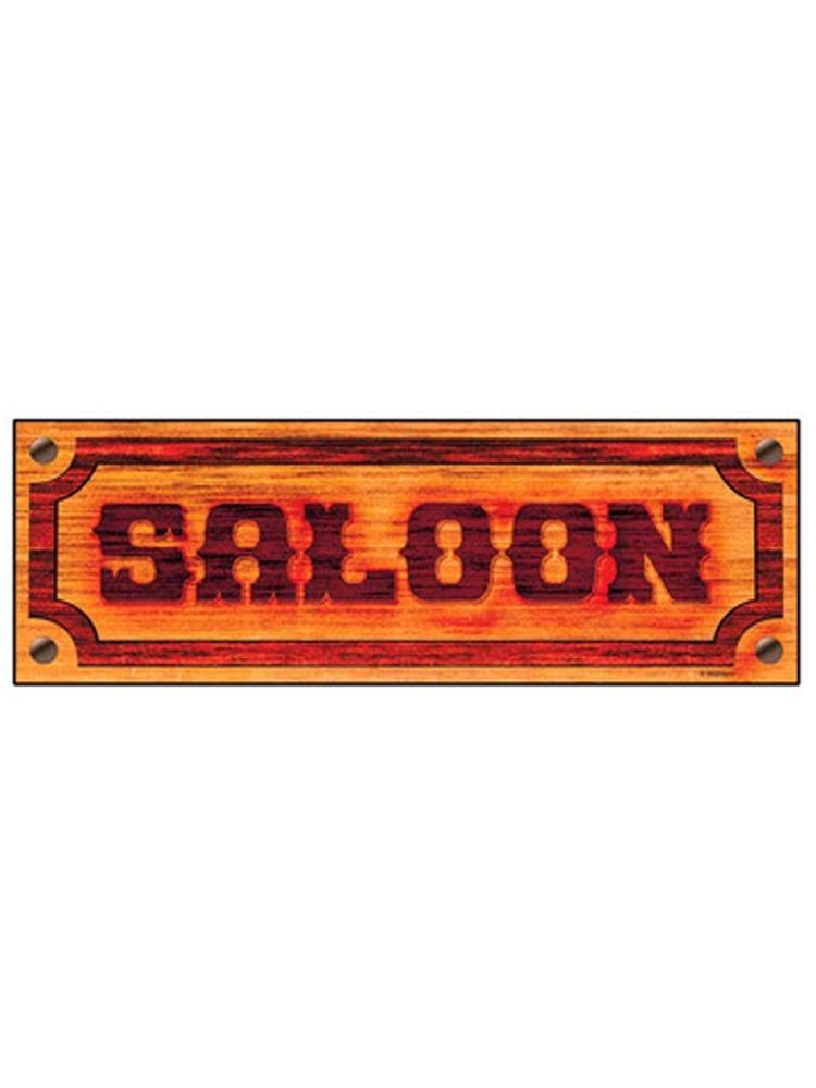 Western 'Saloon' Sign 78x26cm (1)