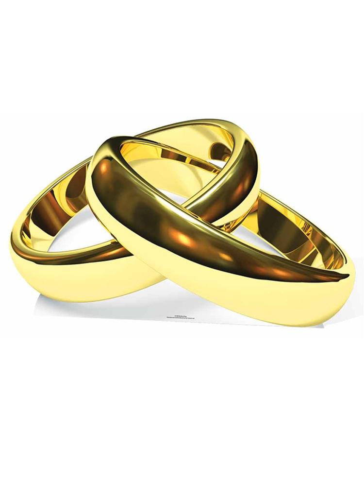 Eternity Wedding Rings - Cardboard Cutout