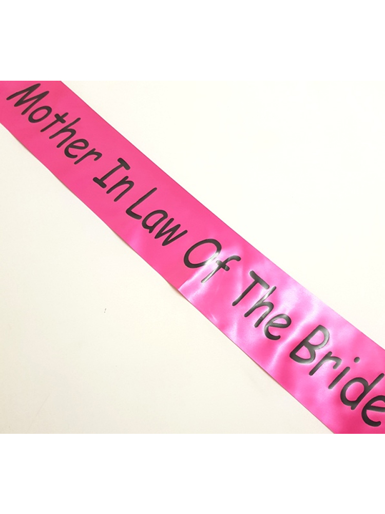 Mother in Law of the Bride Sash