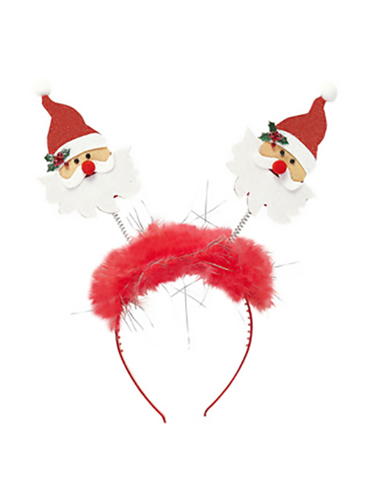 Santa Claus Head Bopper With Marabou & Tinsel
