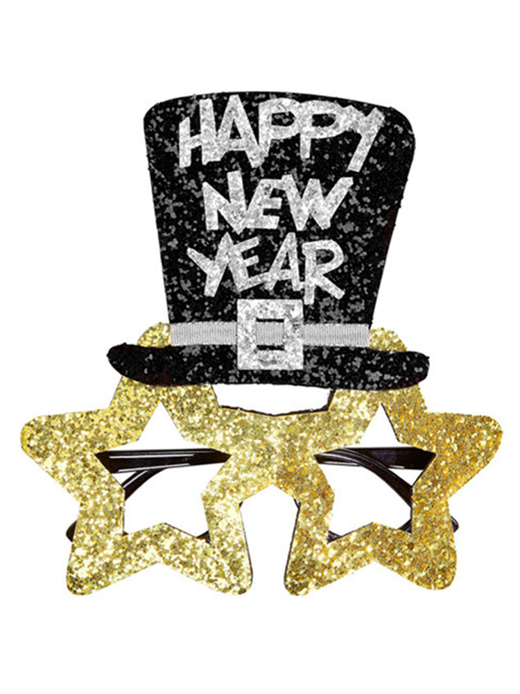 Gold Happy New Year Glasses