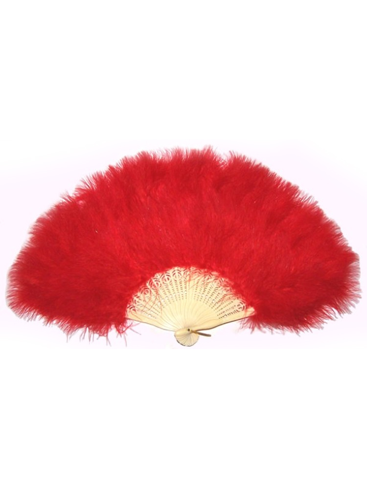 Feathered Fan - Red