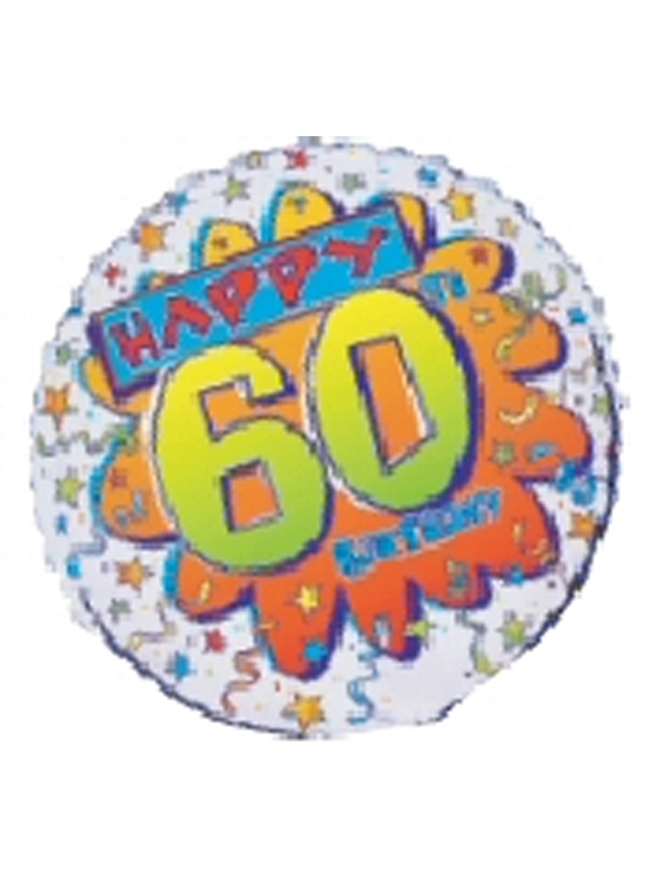 "Foil Balloon HAPPY 60th BIRTHDAY Bang 18"" (Requires Helium)"