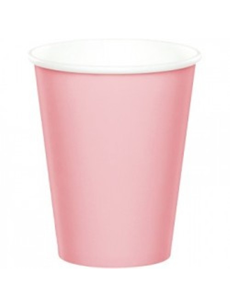 """Pastel Pink Paper Cup 9"""""""