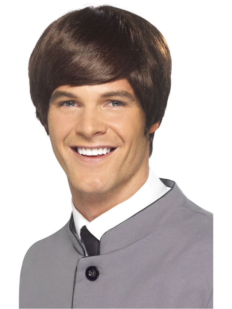 60'S Male Mod Wig, Brown, Short