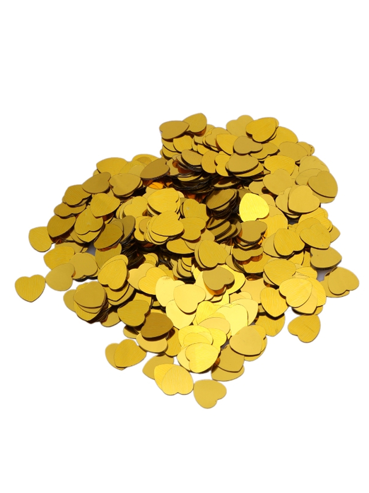 Gold Heart Confetti 14gm