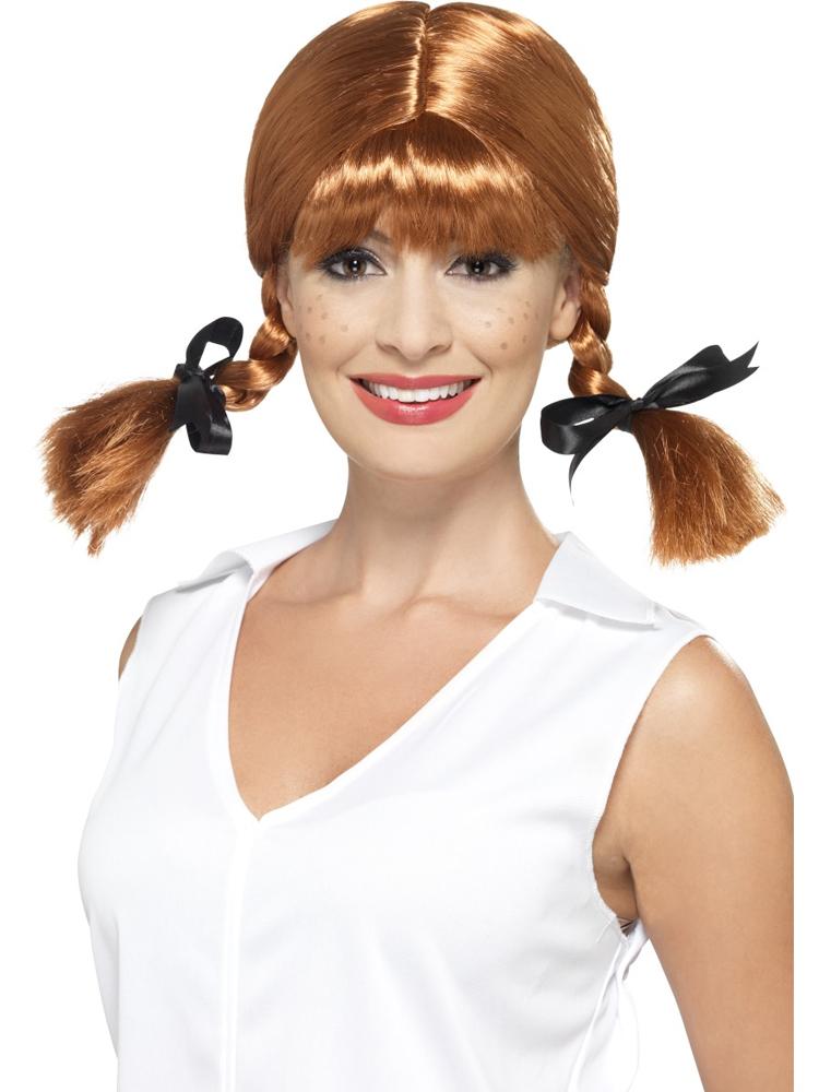 Naughty School Girl Wig, Plaited