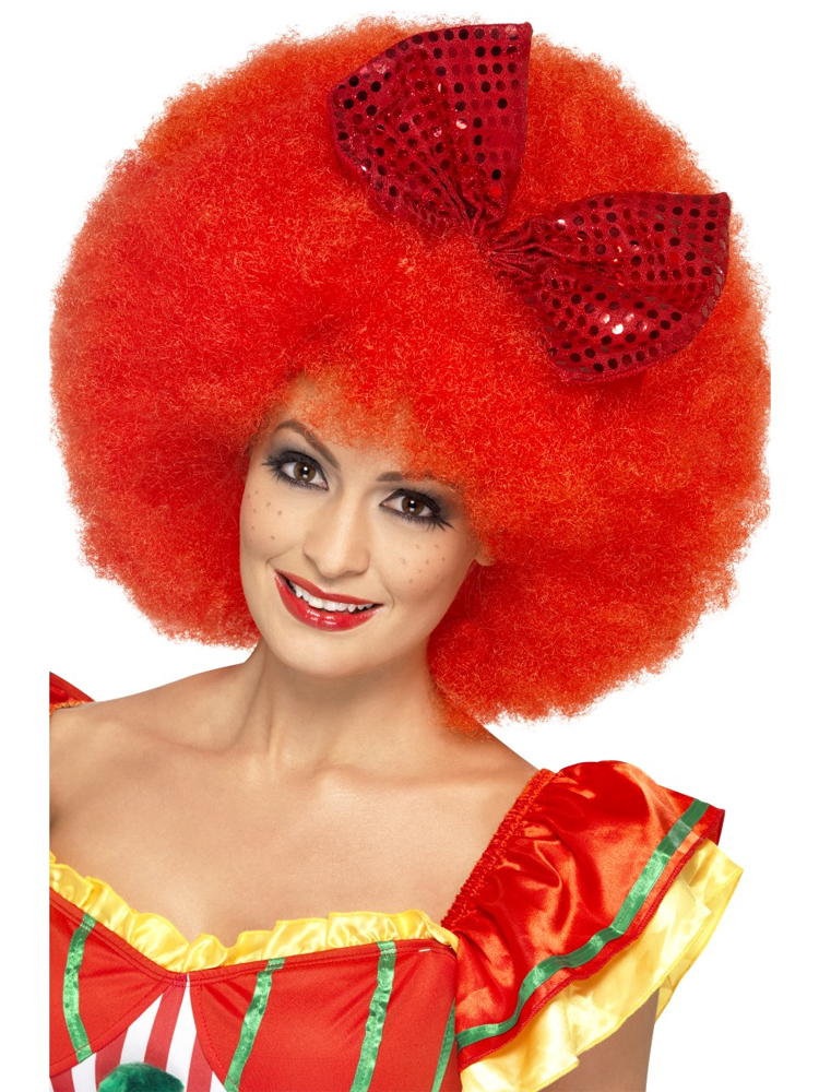 Mega Afro Clown Wig,Red