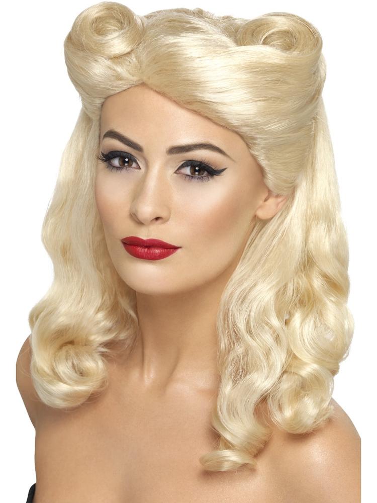 40'S Pin Up Wig, Blonde,Blonde