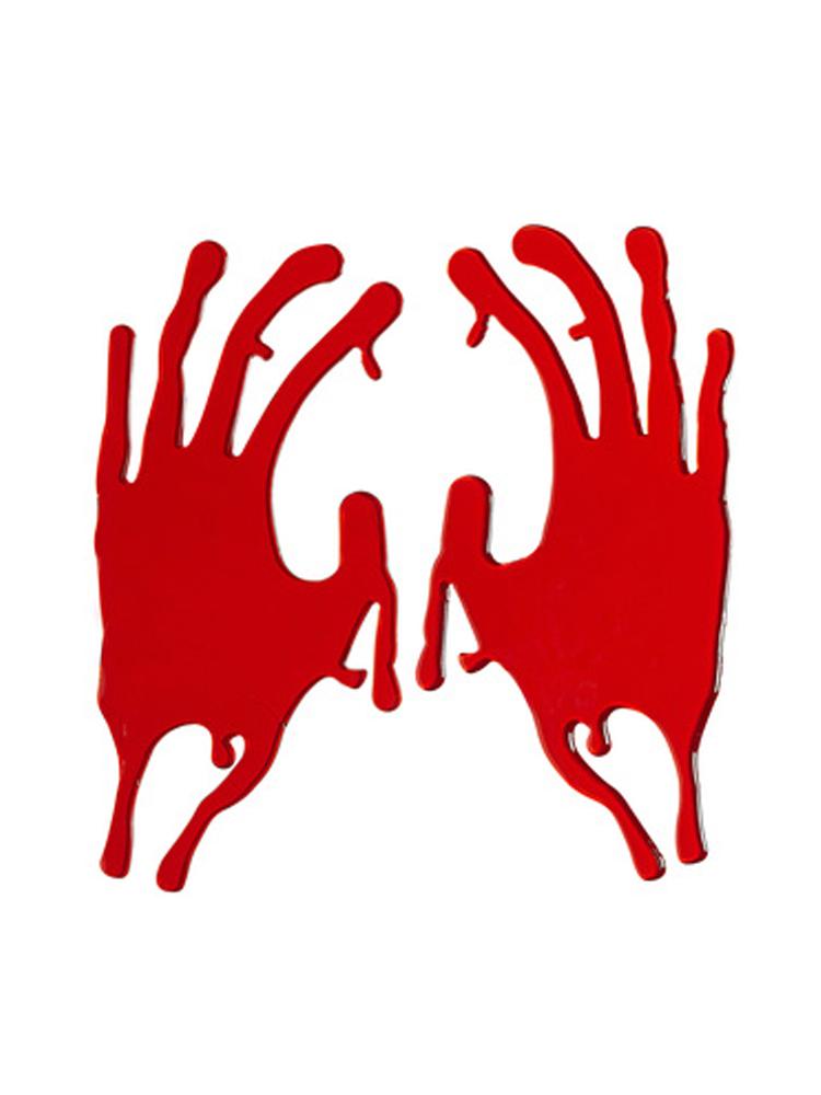 Bloody Hand Window Stickers