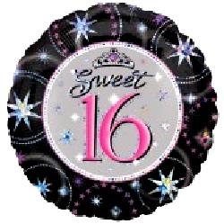 Foil Balloon 'SWEET 16 BIRTHDAY'