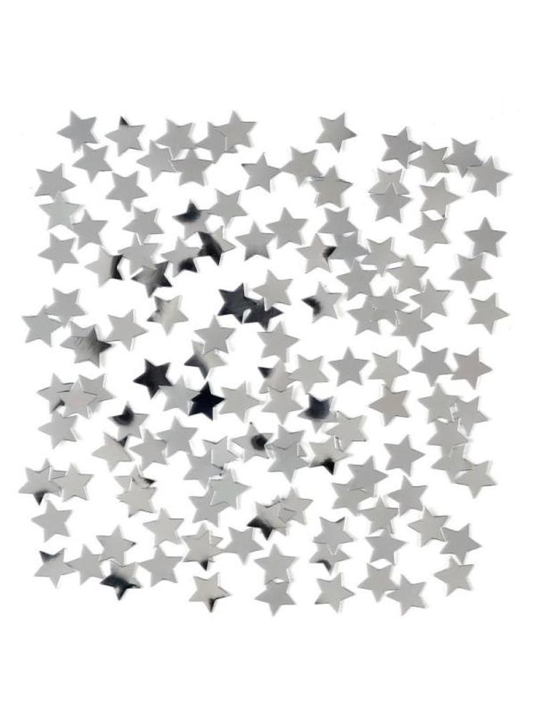 Mini Silver Star Confetti 14gm