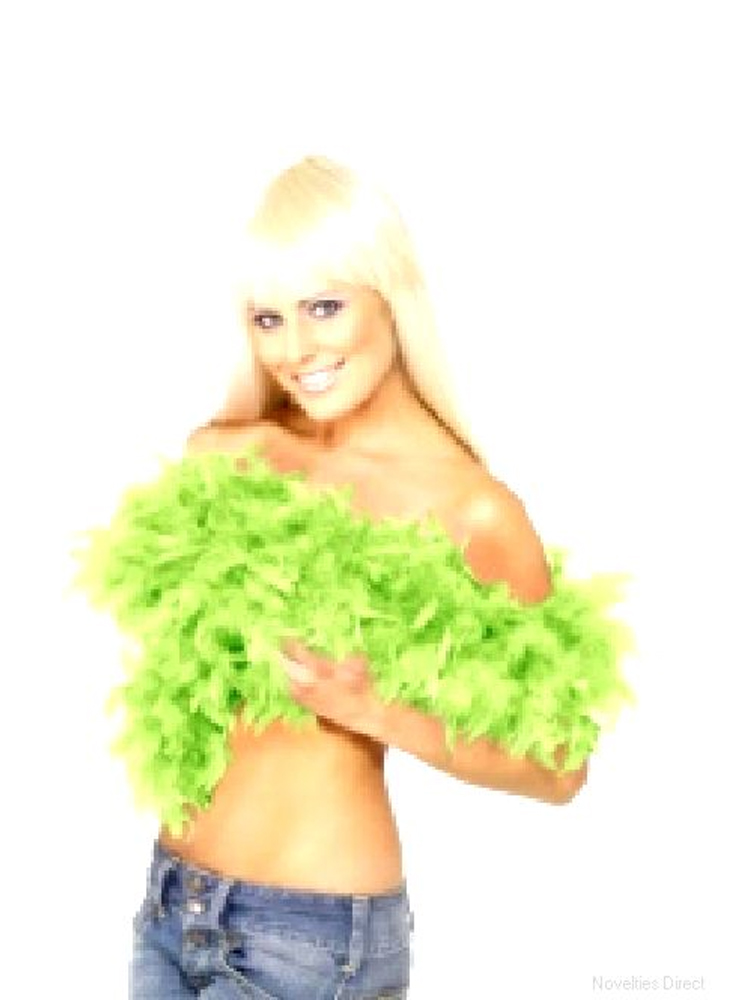Feather Boa Green  (6ft)