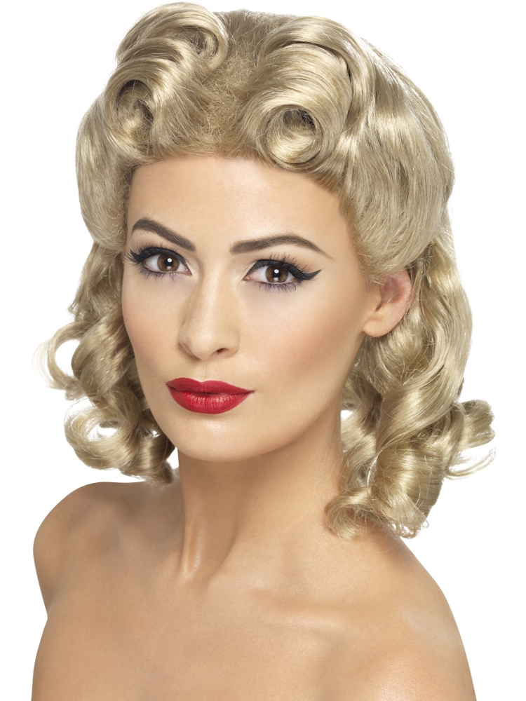 40'S Sweetheart Wig,Blonde