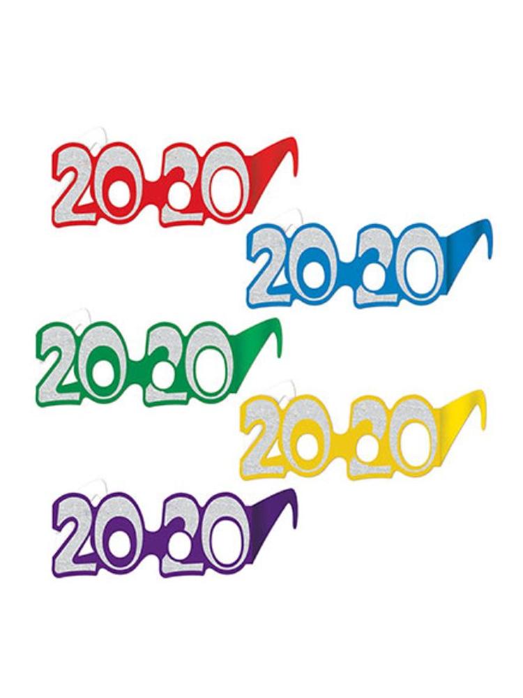 2020 Glittered Cardboard Glasses - 25